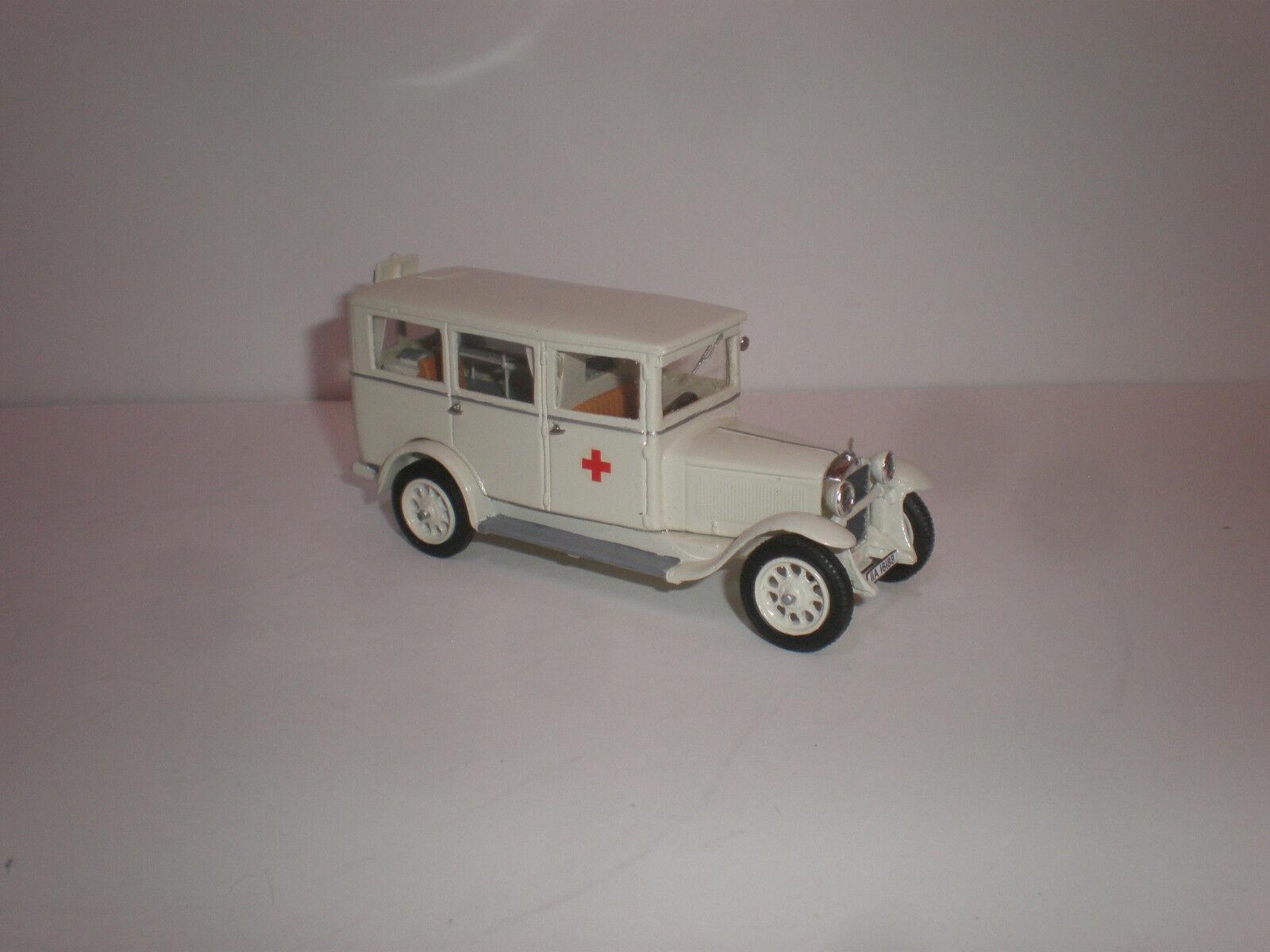 1 43 1929 Mercedes Benz L.1000 Krankenwagen Bus Krankenwagen Handgefertigt