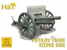 Hat 1/72 8173 WWI / WWII Putilov 76mm M1902 Gun (4pcs)