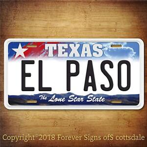 El-Paso-Texas-City-College-Aluminum-Vanity-License-Plate