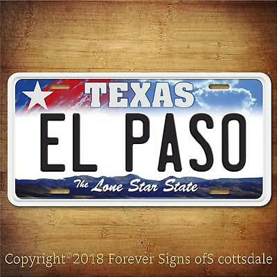 Ships from USA Dallas Star Aluminum License Plate