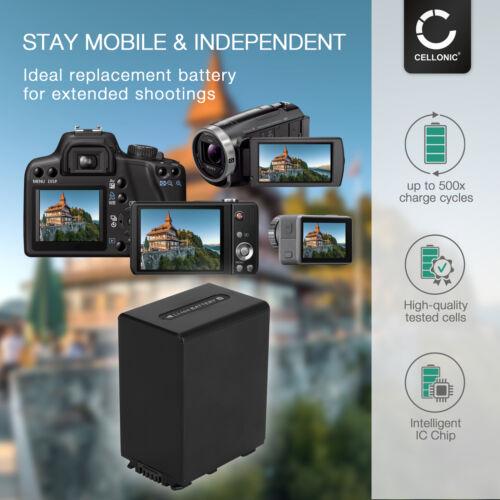 Bateria para Sony PXW-X70 HDR-CX330 HDR-PJ790 HDR-CX250 DCR-SX85 3300mAh