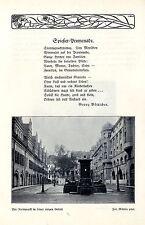 Der Naschmarkt Leipzig + Gedicht Spießer-Promenade Bilddokument 1910