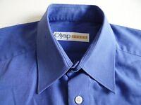 Olymp Luxor Herren Hemd Langarm Blau Unifarben KW40