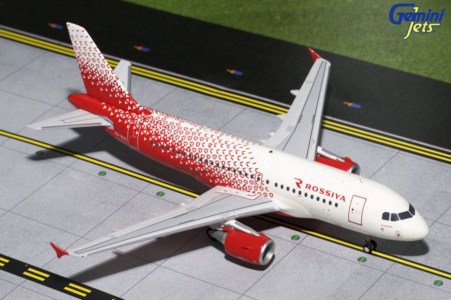 GEMINI JETS ROSSIYA RUSSIAN AIRLINES AIRBUS A319 1:200 DIE-CAST G2SDM650