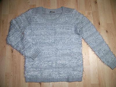 kuschlig weicher APART Effektgarn Pullover Shirt NEU lila