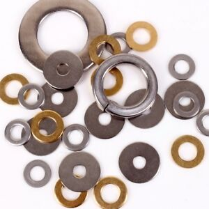 Details about A2 STEEL/BRASS WASHERS ALL SIZES Metric Rectangle Spring Lock  Penny Form A Thin