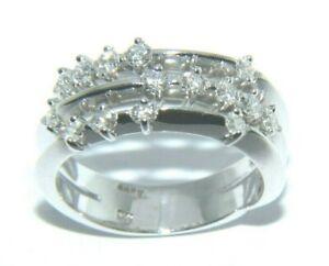 Ladies-womens-18ct-18carat-white-gold-amp-diamond-ring-uk-size-N