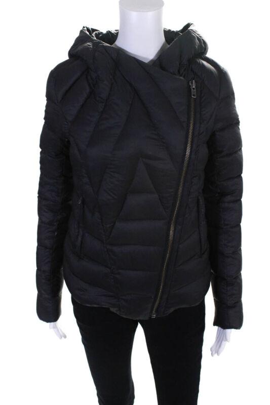 Helmut Womens Zip Sleeve Hooded Puffer Coat Black Size Small