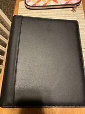 Franklin Planner Leather Open Binder Black