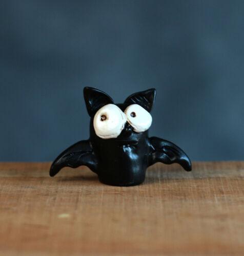 "Halloween Miniature Figurine Bat Janelle Berryman Fall Decor Fairy Garden 1.5/"""