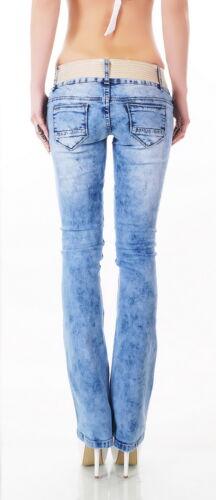 Bootcut l rete m s Jeans Cintura distrutto donna coste da a a xl Denim Xs wIEqRqWHOx