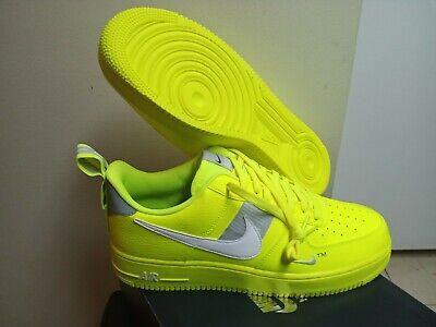 Men S Nike Air Force 1 07 Lv8 Utility Volt White Black Wolf Grey Aj7747 700 191887707868 Ebay