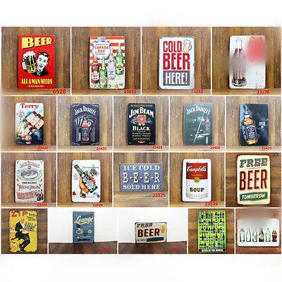 20*30CM Wine Beer Drinks Coca  Cola  Vintage Metal Sign Tin Poster Pub Bar