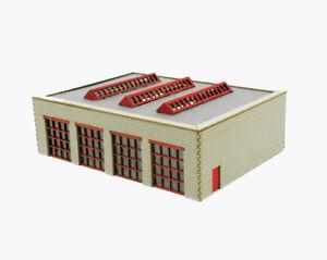 Maquettes-Union-mu-h0-h00006-h0-Pompiers-Vehicule-Halle-Lasercut-Kit