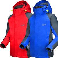 Kids Boys Girls 3in1 Ski Snowsuit Jacket Outdoor Waterproof Hiking Hooded Coat