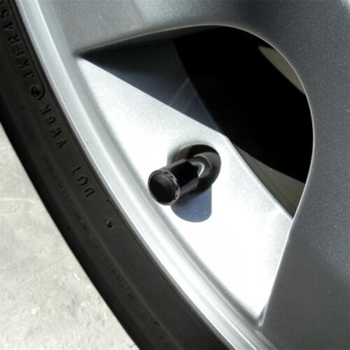 Mopar White Logo 4 Black ABS Tire Stem Valve Caps