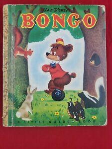 Bongo-A-Little-Golden-Book-1948-VINTAGE-Walt-Disney-BROWN-FOIL
