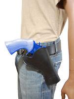 Barsony Black Leather Cross Draw Gun Holster For Taurus 4 Revolvers