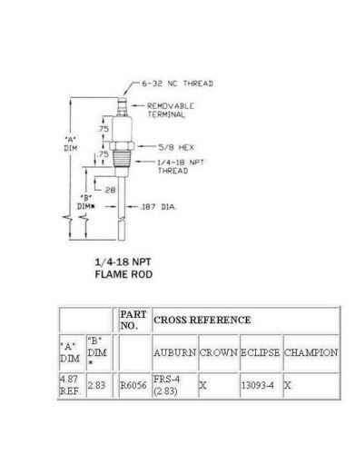 затмение 13093-4 2.83 Пламя удочка-каштановый FRS-4 R6056