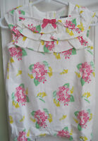 NWT Gymboree Baby Girls Floral Ruffle One- Piece Romper Sizes 12-18 18-24 Months