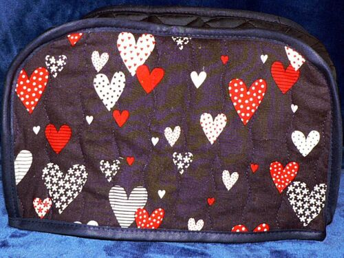 Quilted Toaster Cover Red//White//Blue Hearts Madto Order SEND YOUR MEASUREMENTS