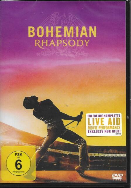 BOHEMIAN RHAPSODY DVD NEU & OVP Biopic über Freddie Mercury & Queen