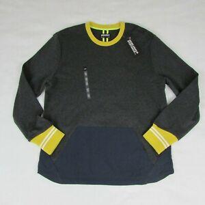Under-Armour-Sportswear-Sweatshirt-Crew-Mens-M-Pullover-Sweater-Gray-Yellow-Blue