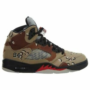 c8fdf3d63aa1 Air Jordan 5 V Retro Supreme Mens 824371-201 Desert Camo Black Shoes ...