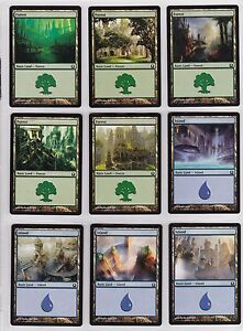 Magic the Gathering lot of 100 Return To Ravnica basic lands 4 of each art