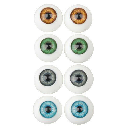 8pcs 16mm Colorful Plastic Half Round Eyes Eyeballs for Kids DIY Craft Accs