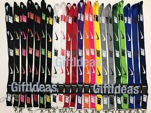 Nike-Adidas-Jordan-Lanyard-Detachable-Keychain-Badge-ID-Holder-Free-Shipping
