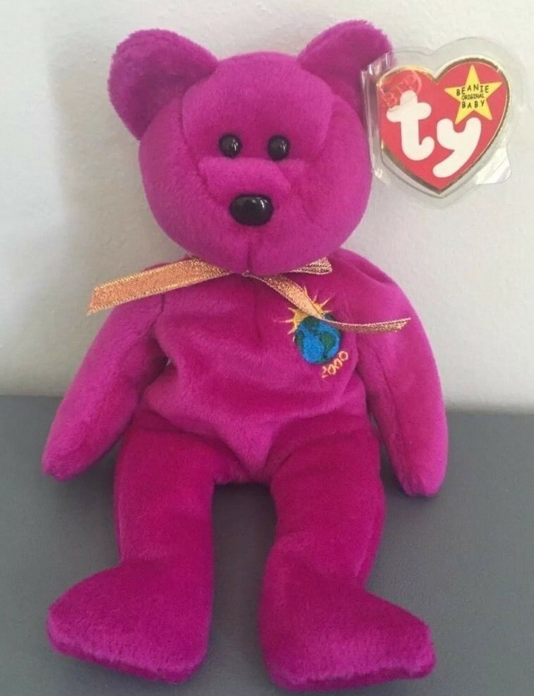 "TY BEANIE BABY Millenium 1999 SIGNATURE BEAR   Millenium BABY 2000 RARE  RETIRED Error On Tags. "" f59f5db7ee"