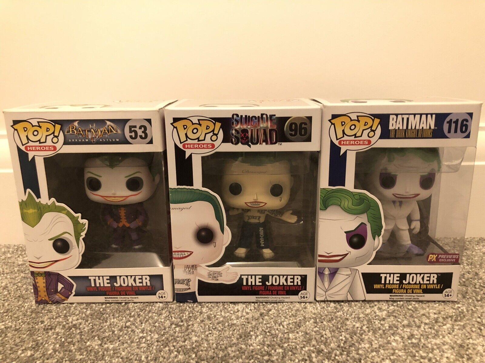 Funko Pop  DC The Joker bundle  53  96  116