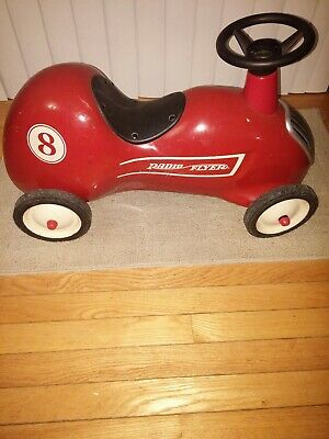 Little Red Car >> Vintage Radio Flyer Little Red Roadster Ride On Push Race Car 8 Kids Toy Pedal Ebay