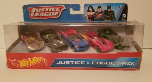 Hot Wheels Exclusive 2012 Justice League 5 Pack 150 Diecast Car. NEW. NRFB