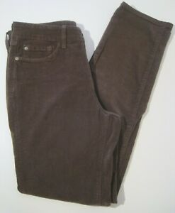 New-NYDJ-Not-Your-Daughters-Jeans-Women-size-4-Brown-corduroy-lift-amp-tuck
