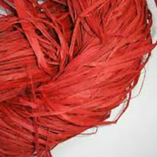 Raffia Cinnabar Red Floristry craft 150g bag decorative rustic ties bows loads