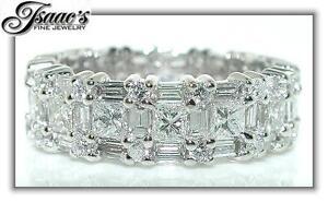 4-CT-Princess-Diamond-ETERNITY-Wedding-Band-18-KW