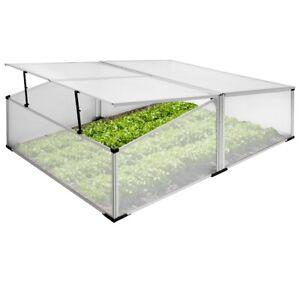 details sur mini serre de jardin chassis froid double foyer couche semis alu polycarbonate