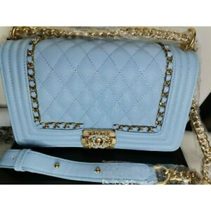 Fabchicbox-Baby-Blue-Chain-Sling-Bag-LeBoy-FREE-SHIPPING