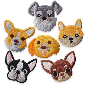 Cute-Dogs-Chuwawa-Bulldog-Iron-Sew-on-Appliques-Embroidered-Patches-Craft