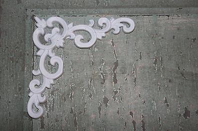 4 DIY Corner Pieces Shabby Chic Appliques Onlays Furniture Appliques
