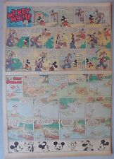 Mickey Mouse Sunday Page by Walt Disney from 4/9/1939 Tabloid Page Size