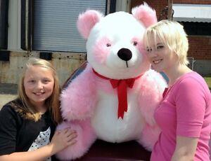 7d63fb1cb4e American Made Giant Stuffed Pink Panda Soft Jumbo Teddy Bear Made in ...
