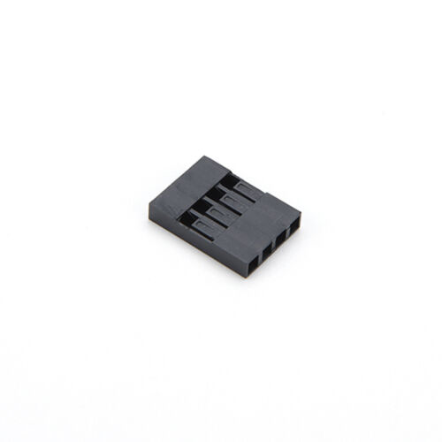 100X 4P Dupont Jumper Draht Kabelgehäuse Buchse Pin Stecker 2.54mm RasterDD