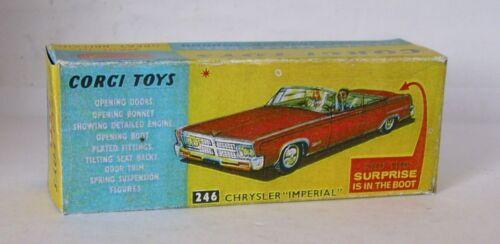 Repro Box Corgi Nr.246 Chrysler Imperial rot