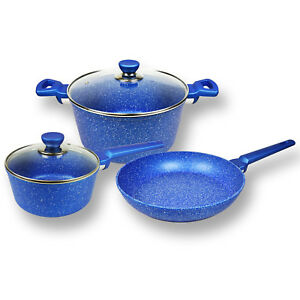 Non-stick-Cookware-Set-Bluestone-Frypan-Saucepan-Casserole-Induction-5pc