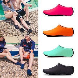 verano-Unisex-Descalzo-Zapatos-AQUA-AGUA-Calcetines-Zapatillas-Sandalias-piel