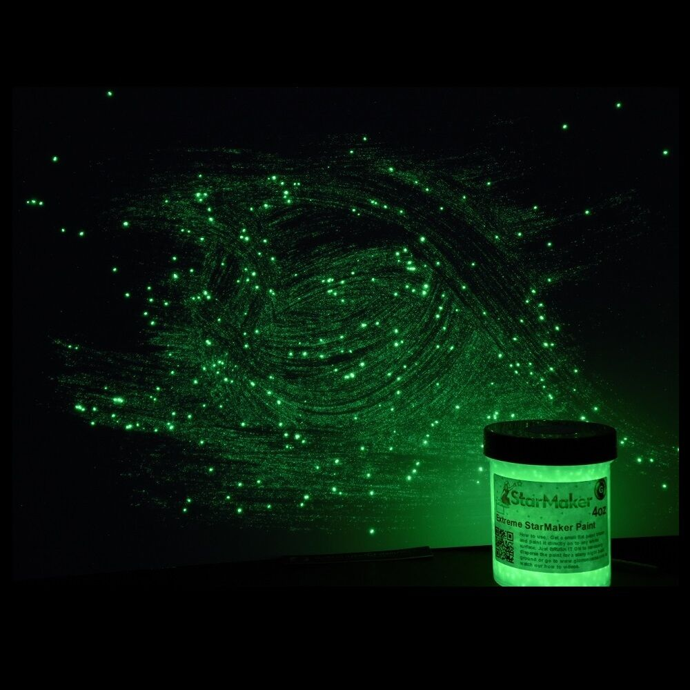 glow in the dark 3 color extreme starmaker paint 1 2oz pots sampler. Black Bedroom Furniture Sets. Home Design Ideas