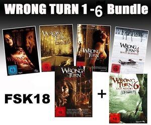 Alle-Teile-Wrong-Turn-1-6-1-2-3-4-5-6-dvd-neu-Bloody-Beginnings-Set-Last-Resort